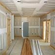 chantier cloisons interieures et menuiserie